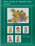 Salver of Fruits & Vegetables Gang - (Cross Stitch)