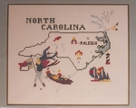 North Carolina Map - (Cross Stitch)