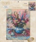 Summer Flowers Picture - (Cross Stitch)