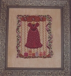 Christmas Dress and Notecard - (Cross Stitch)