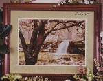 Cherry Blossom Waterfall - (Cross Stitch)