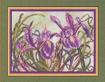 Spring Iris - (Cross Stitch)