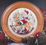Santa Christmas Plate 1994 - (Cross Stitch)