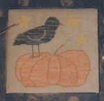 Pumpkin Bird - (Cross Stitch)