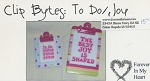 Clip Bytes: To Do/Joy - (Cross Stitch)