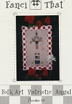 Folk Art Patriotic Angel - (Cross Stitch)