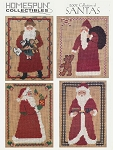 2002 Collection of Santas - (Cross Stitch)