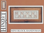 Mini Block Handyman - (Cross Stitch)
