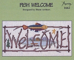 Fish Welcome - (Cross Stitch)