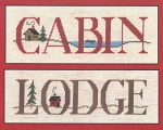 Cabin Lodge Signs - (Cross Stitch)