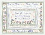 Wedding Blessing - (Cross Stitch)