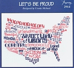 Let's Be Proud - (Cross Stitch)