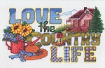 Love the Country Life - (Cross Stitch)