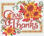 Give Thanks Sunflowers - (Cross Stitch)