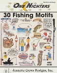 30 Fishing Motifs - (Cross Stitch)