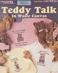 Teddy Talk in Waste Canvas - (Cross Stitch)