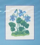 Violets - (Cross Stitch)