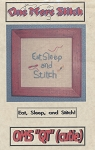 Eat, Sleep, and Stitch - (Cross Stitch)