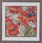 Red Poppies - (Cross Stitch)