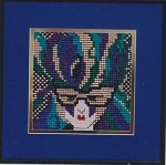 Mardi Gras Mask - (Cross Stitch)