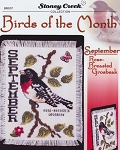 Birds of the Month- September Rose-Breasted Grosbe - (Cross Stitch)