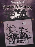 Graveyard Halloween - (Cross Stitch)