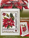 Flowers of the Month December Poinsettia - (Cross Stitch)
