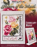 Flowers of the Month February Rose - (Cross Stitch)