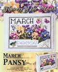 Flowers of the Month March Pansy - (Cross Stitch)