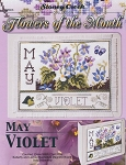Flowers of the Month May Violet - (Cross Stitch)