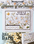 Flowers of the Month July Daisy - (Cross Stitch)