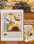 Flowers of the Month October Sunflowers - (Cross Stitch)