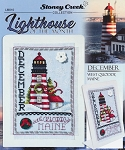 December Lighthouse West Quoddy Maine - (Cross Stitch)