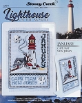 Lighthouse of the Month January Cape May NJ - (Cross Stitch)