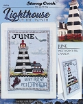 Lighthouse of the Month June West Point Pei Canada - (Cross Stitch)