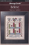 Bright Hopes Quilt Block - Believe - (Cross Stitch)