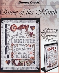 Quote of the Month - February Sunshine in a House - (Cross Stitch)
