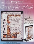 Quote of the Month April Dance in the Rain - (Cross Stitch)