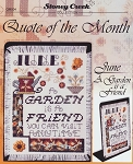 Quote of the Month June A Garden is a Friend - (Cross Stitch)