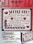 Quote of the Month September Blessed are Those - (Cross Stitch)