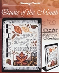 Quote of the Month October Leaves of Kindness - (Cross Stitch)