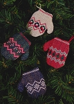 Watercolour Ornaments II Mittens - (Cross Stitch)