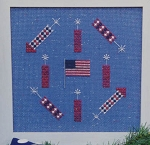 Watercolour Fourth of July - (Cross Stitch)