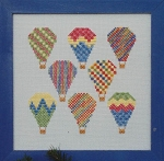 Watercolour Hot Air Balloons - (Cross Stitch)