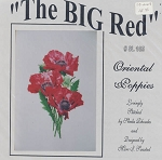 The BIG Red Oreiental Poppies - (Cross Stitch)