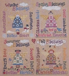 Seasonal Blessings - (Cross Stitch)