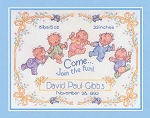Happy Babies Birth Sampler - (Cross Stitch)