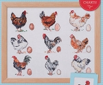 Country Kitchen Chickens Sampler - (Cross Stitch)