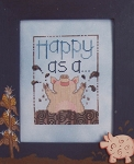 Happy as a Pig - (Cross Stitch)