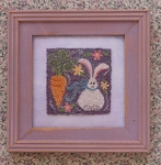 Spring Bunny Punchneedle Embroidery - (Cross Stitch)